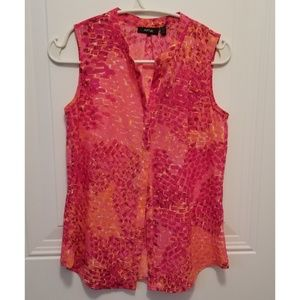 Apt. 9 pink and orange sleeveless blouse PXS NWT